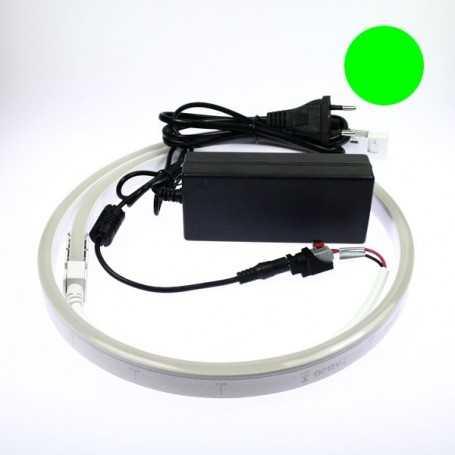 Kit 220V led néon flex slim vert complet. De 1m à 10m au choix