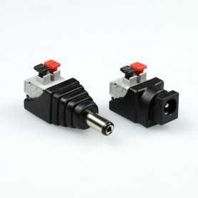 Kit connecteur rapide jack à clipser male et femelle
