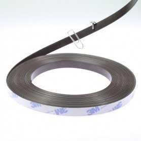 Bande magnétique 10mm avec dos autocollant spéciale ruban led