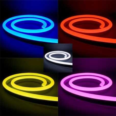 Néon led flexible RGB à changement de couleurs. Kit complet 220V