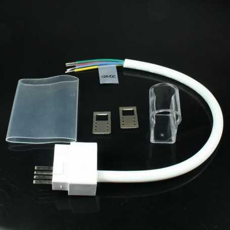 Connecteur d'alimentation étanche pour néon led RGB