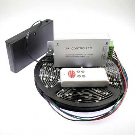 Kit ruban led RGB à piles avec capteur de son