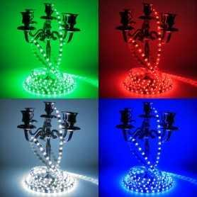 Kit bande led RGB 2,5m haute luminosité 60led/m avec contrôleur 24 touches