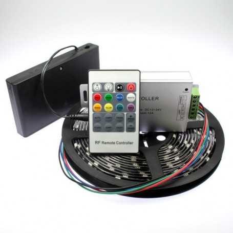 Kit ruban led RGB à piles de 5m avec contrôleur radiofréquence