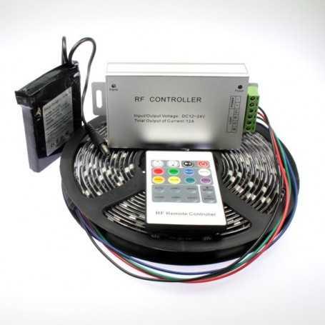 Kit bande led RGB de 5m avec batterie rechargeable 1800mAh