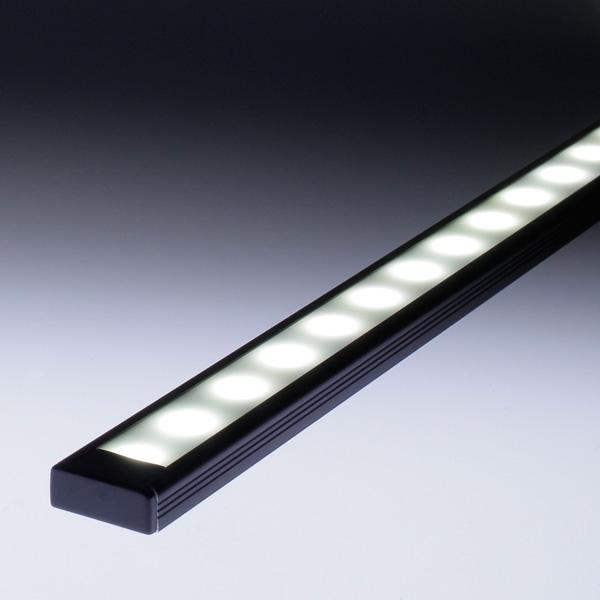 profil aluminium noir pour ruban led pose en saillie ou encastrable. Black Bedroom Furniture Sets. Home Design Ideas