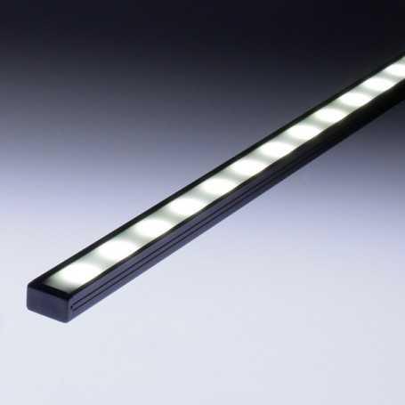 Profilé slim aluminium anodisé noir pour éclairage led