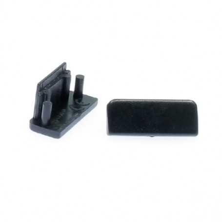 Capsules noires de terminaison pour profilé à poser en saillie ou à encastrer