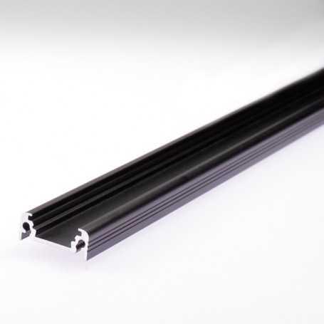 Profilé aluminium noir encastrable ou à poser en saillie au détail