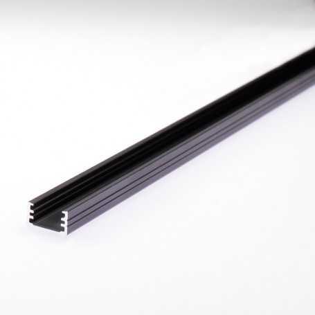 Profilé slim en aluminium anodisé noir pour bande led au détail