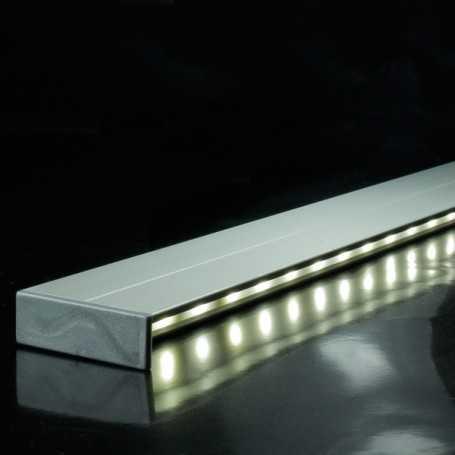 Profilé en aluminium spécial éclairage indirect de 1 mètre complet