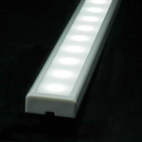 Profilé en aluminium led de 1 mètre complet à poser en saillie ou à encastrer