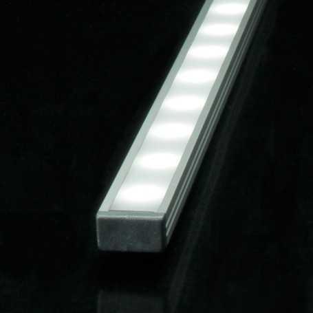 Profilé en aluminium slim de 1 mètre pour ruban led complet