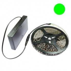 Kit Led flexible vert avec boîtier piles