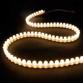 Bande led silicone 96leds/m blanc chaud de 1m - Etanche IP65