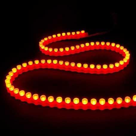 Bande led silicone 96leds/m rouge de 1m - Etanche IP65