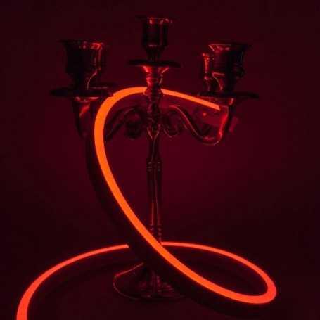 Néon LED Slim rouge 12V étanche 3m. Qualité PREMIUM