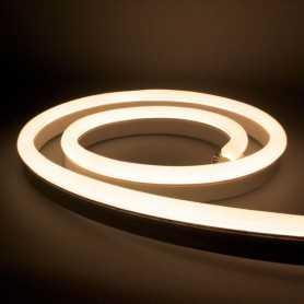 Néon LED Bulbe blanc chaud 24V étanche 15m. Qualité PREMIUM