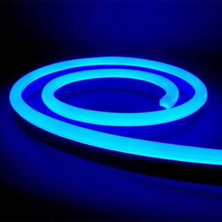 Néon LED Bulbe bleu 24V étanche 20m. Qualité PREMIUM