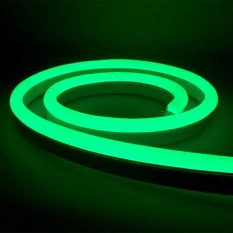 Néon LED Bulbe vert 24V étanche 15m. Qualité PREMIUM