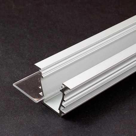 Diffuseur transparent de 1m à glisser pour profilé led DEEP