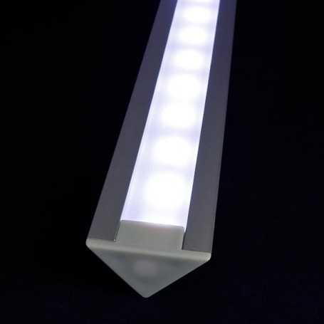 Kit profilé led aluminium ENCASTRABLE de 1m avec diffuseur givré