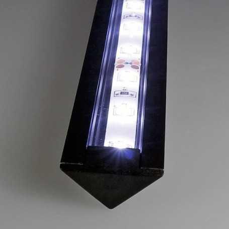 Kit profilé led aluminium ENCASTRABLE NOIR de 1m avec diffuseur transparent