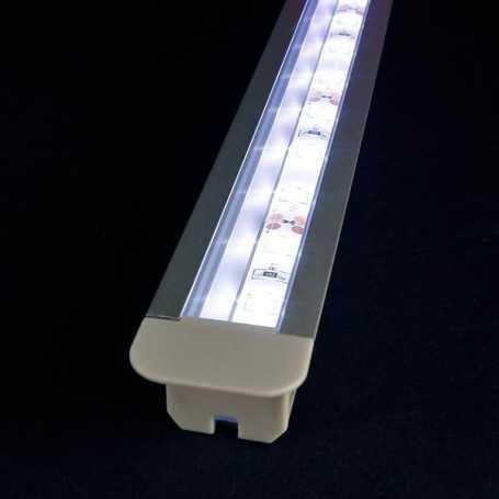Kit profilé led aluminium DEEP de 1m avec diffuseur transparent