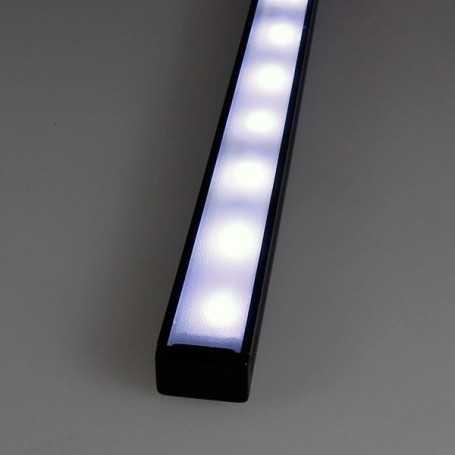 Kit profilé led aluminium SLIM NOIR de 1m avec diffuseur givré