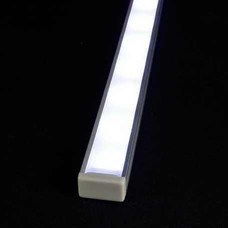 Kit profilé led aluminium SLIM de 1m avec diffuseur givré