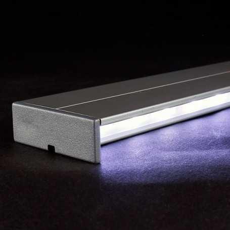 Kit profilé led aluminium éclairage INDIRECT de 1m avec diffuseur givré