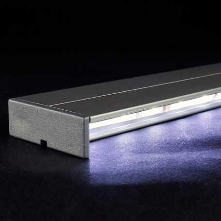 Kit profilé led aluminium éclairage INDIRECT de 1m avec diffuseur transparent