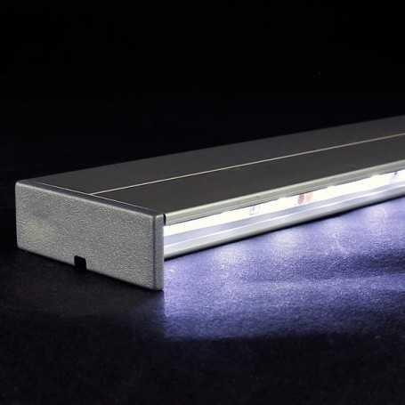 Kit profilé led aluminium éclairage INDIRECT de 50cm avec diffuseur transparent