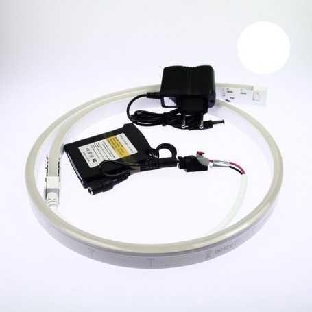 Kit néon led slim blanc 1m avec batterie 4200mAh