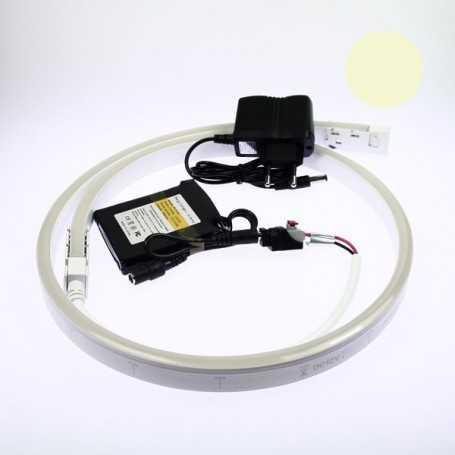 Kit néon led slim blanc chaud 2m avec batterie 4200mAh