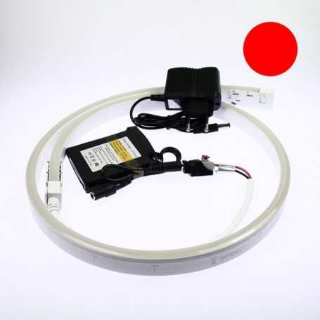 Kit néon led slim rouge 2m avec batterie 4200mAh
