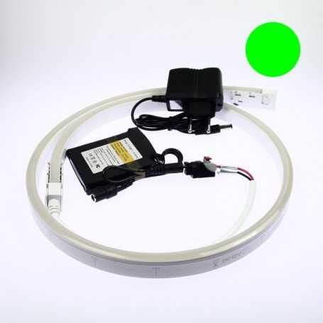 Kit néon led slim vert 5m avec batterie 4200mAh
