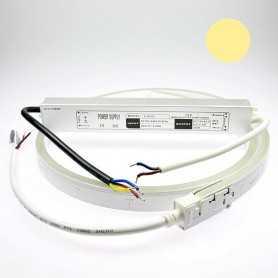 Kit néon led slim blanc chaud 3m avec alimentation 220V étanche