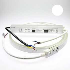 Kit néon led slim blanc 2m avec alimentation 220V étanche