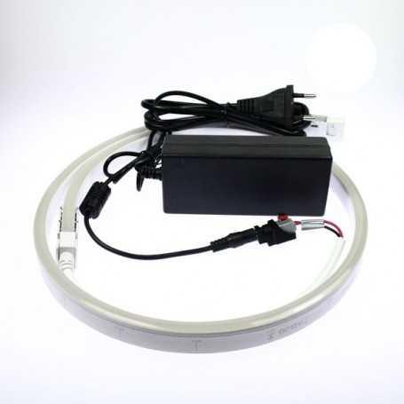Kit néon led slim blanc 3m avec alimentation 220V