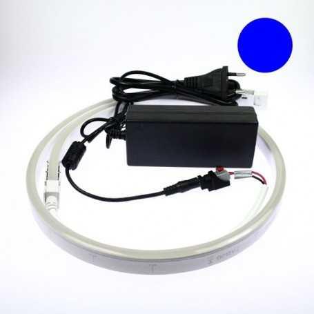 Kit néon led slim bleu 5m avec alimentation 220V