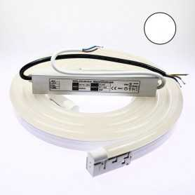 Kit néon led bulbe blanc 3m avec alimentation 220V étanche