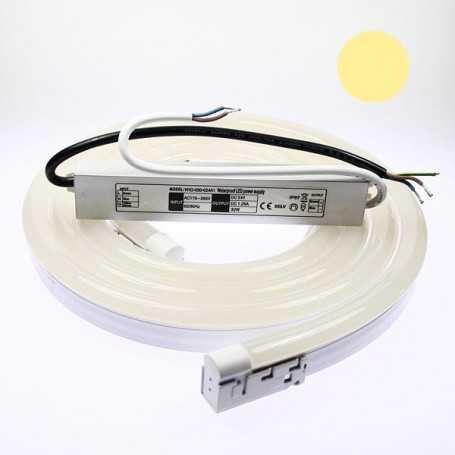 Kit néon led bulbe blanc chaud 2m avec alimentation 220V étanche