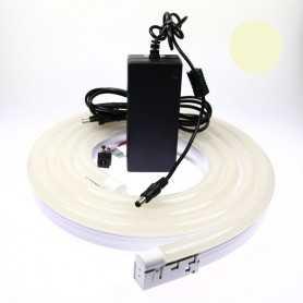 Kit néon led bulbe blanc chaud 3m avec alimentation 220V