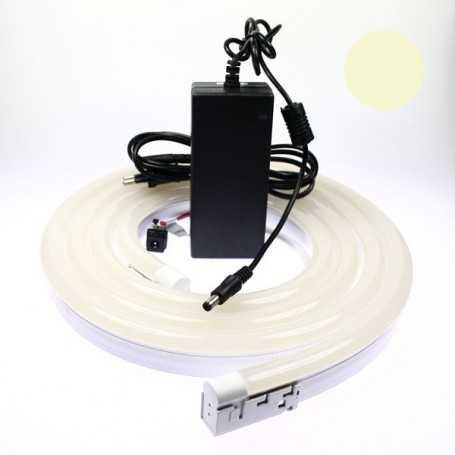 Kit néon led bulbe blanc chaud 5m avec alimentation 220V