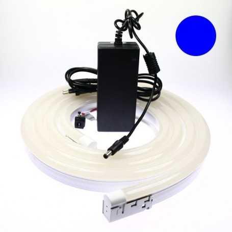 Kit néon led bulbe bleu 4m avec alimentation 220V
