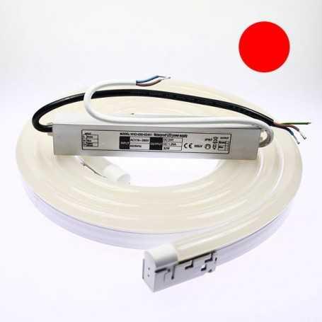 Kit néon led bulbe rouge 1m avec alimentation 220V étanche