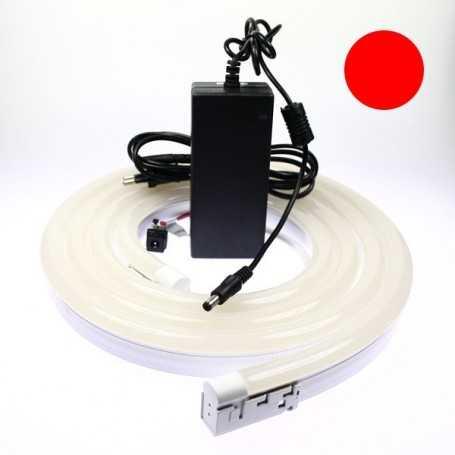 Kit néon led bulbe rouge 5m avec alimentation 220V