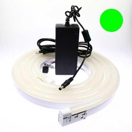 Kit néon led bulbe vert 4m avec alimentation 220V