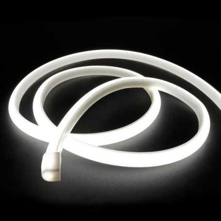 Ruban LED néon blanc 12V étanche 5m. Lumière continue haute intensité